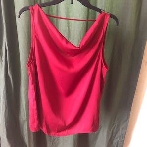 Pleione Cranberry red blouse